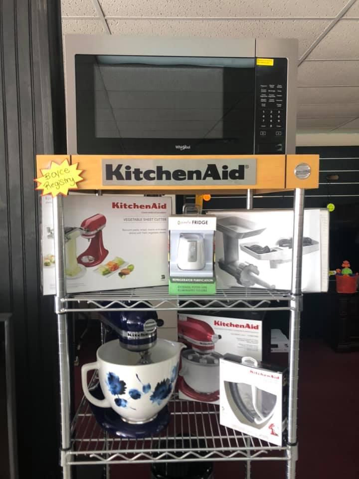 Sarabia - Boyce wedding registry microwave, kitchenaid attachments